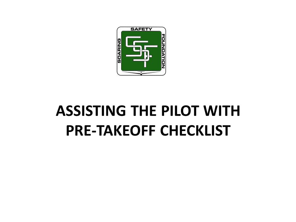 ASSISTING THE PILOT WITH PRE-TAKEOFF CHECKLIST