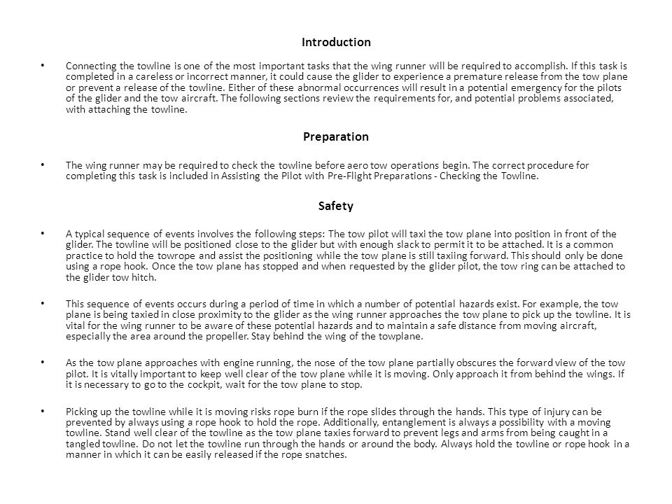Introduction Preparation Safety