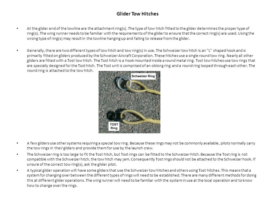 Glider Tow Hitches