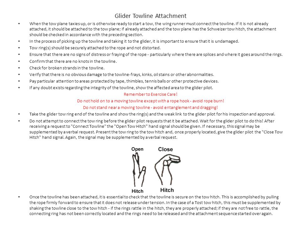 Glider Towline Attachment