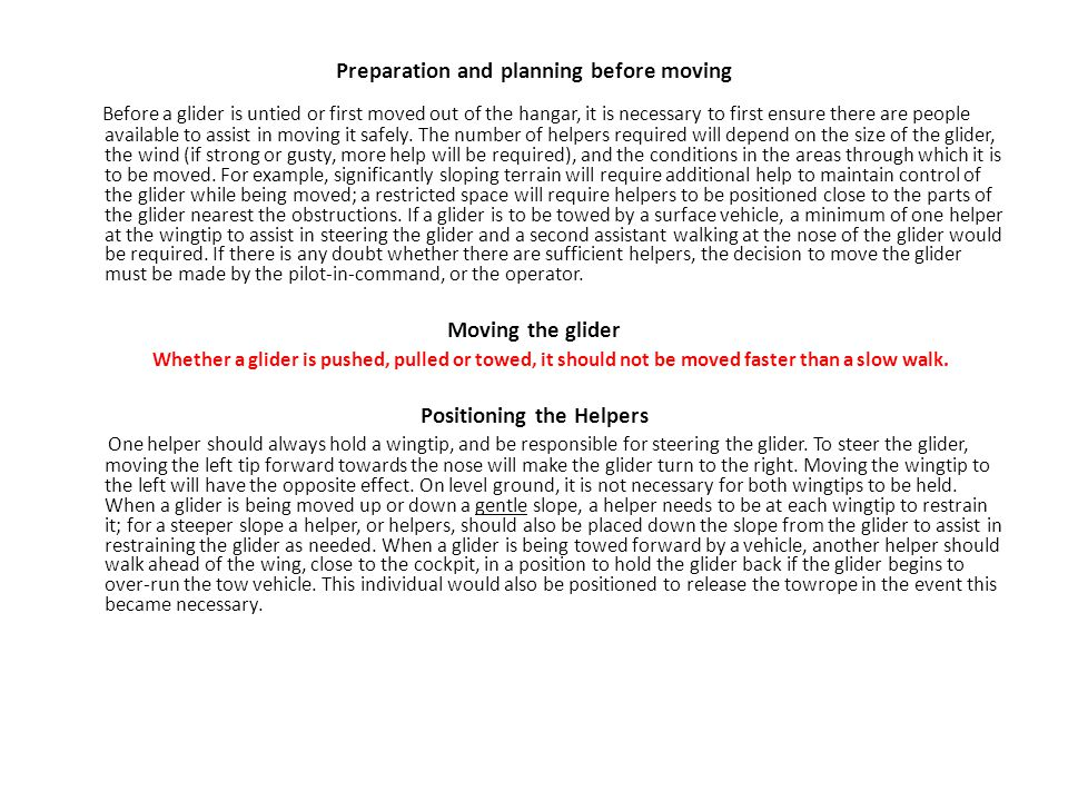 Preparation and planning before moving