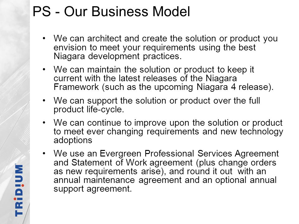 PS - Our Business Model