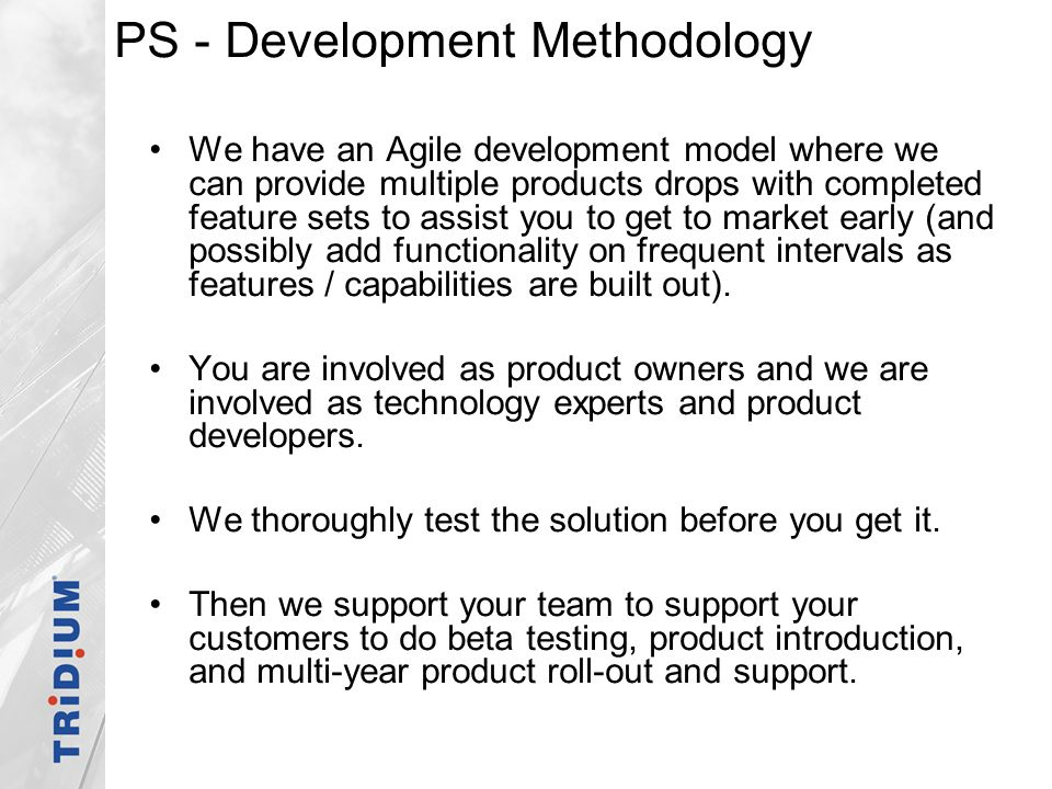 PS - Development Methodology