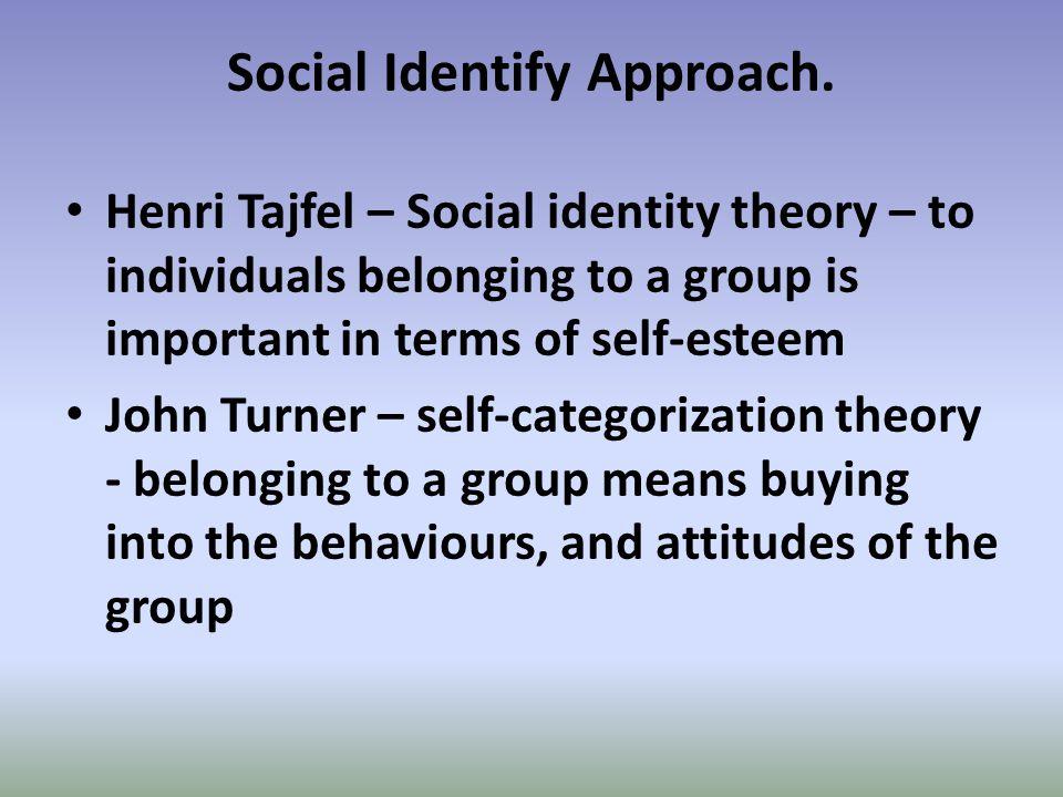 Social Identify Approach.