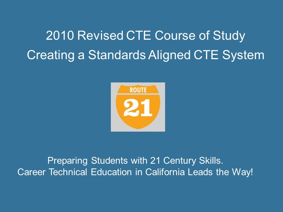 2010 Revised CTE Course of Study