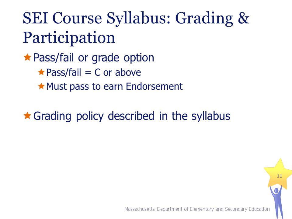 SEI Course Syllabus: Grading & Participation