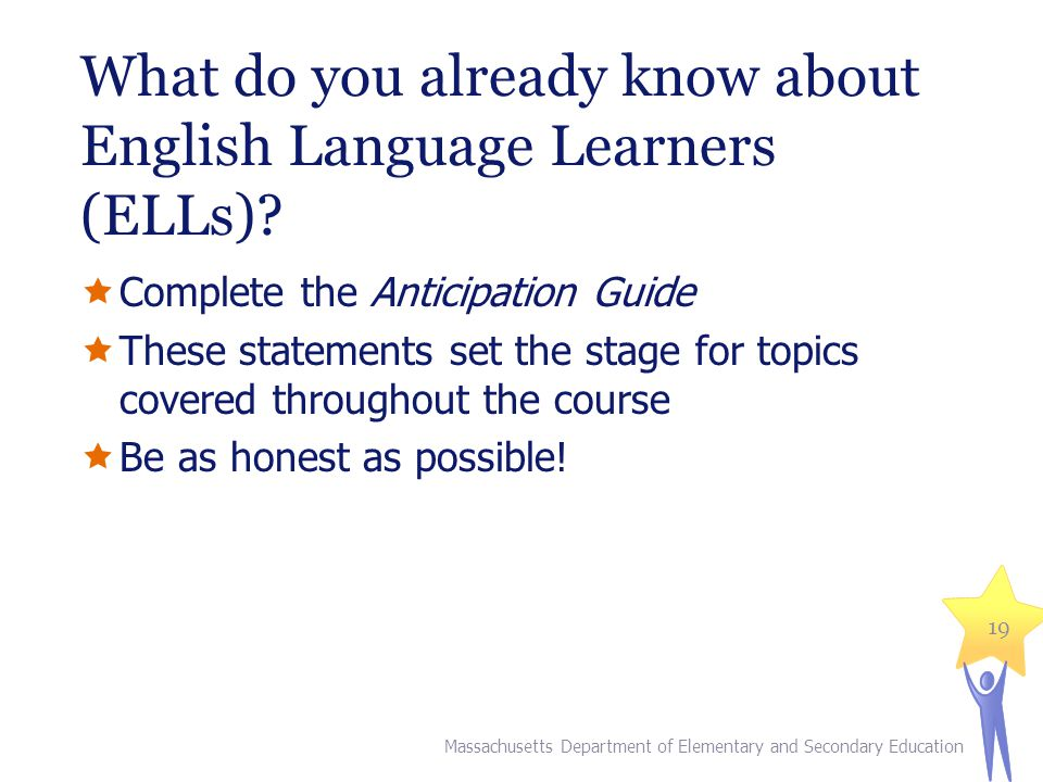 What do you already know about English Language Learners (ELLs)
