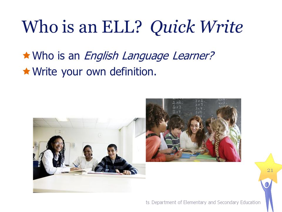 Who is an ELL Quick Write
