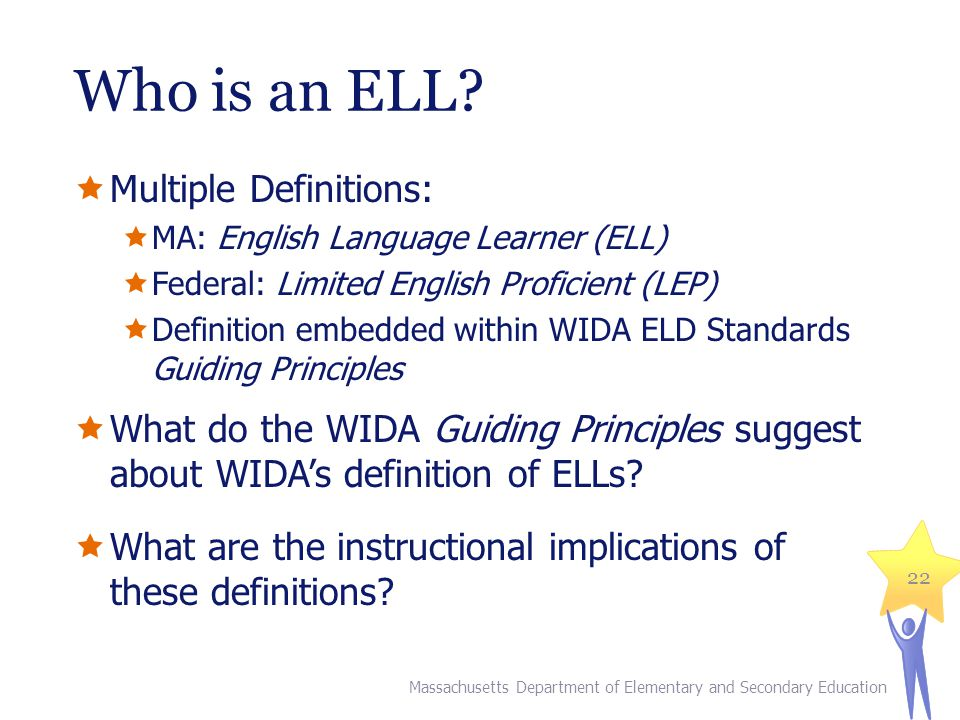 Who is an ELL Multiple Definitions: