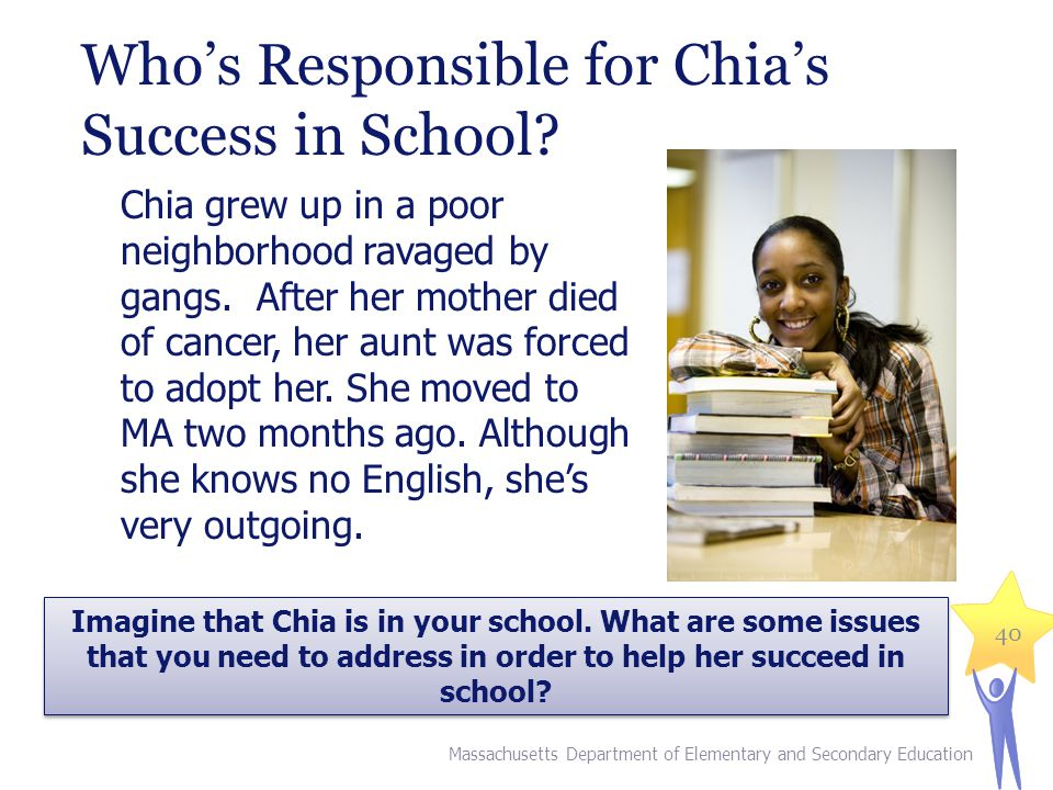 Who's Responsible for Chia's Success in School