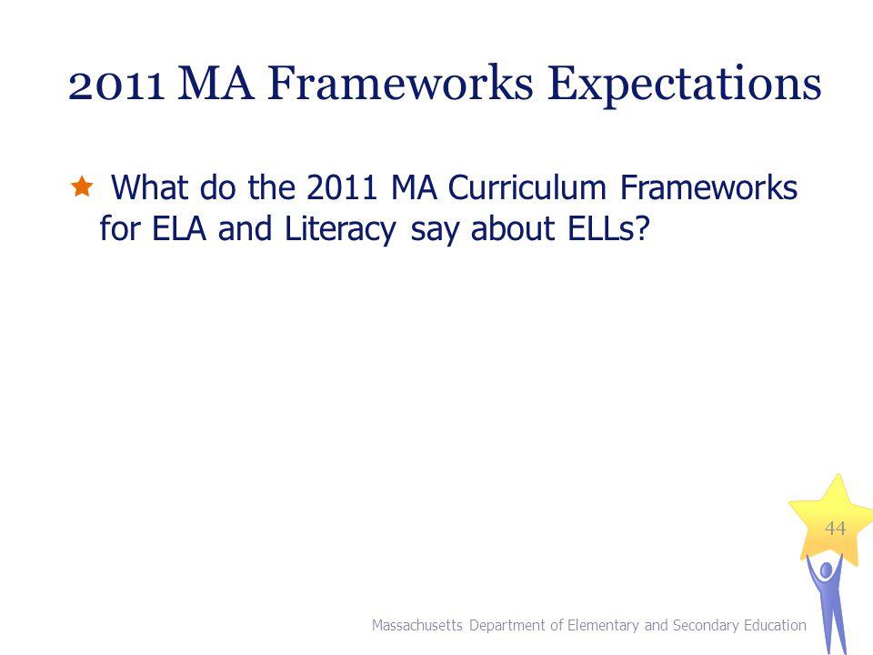 2011 MA Frameworks Expectations