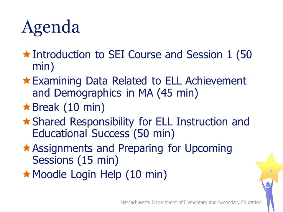Agenda Introduction to SEI Course and Session 1 (50 min)