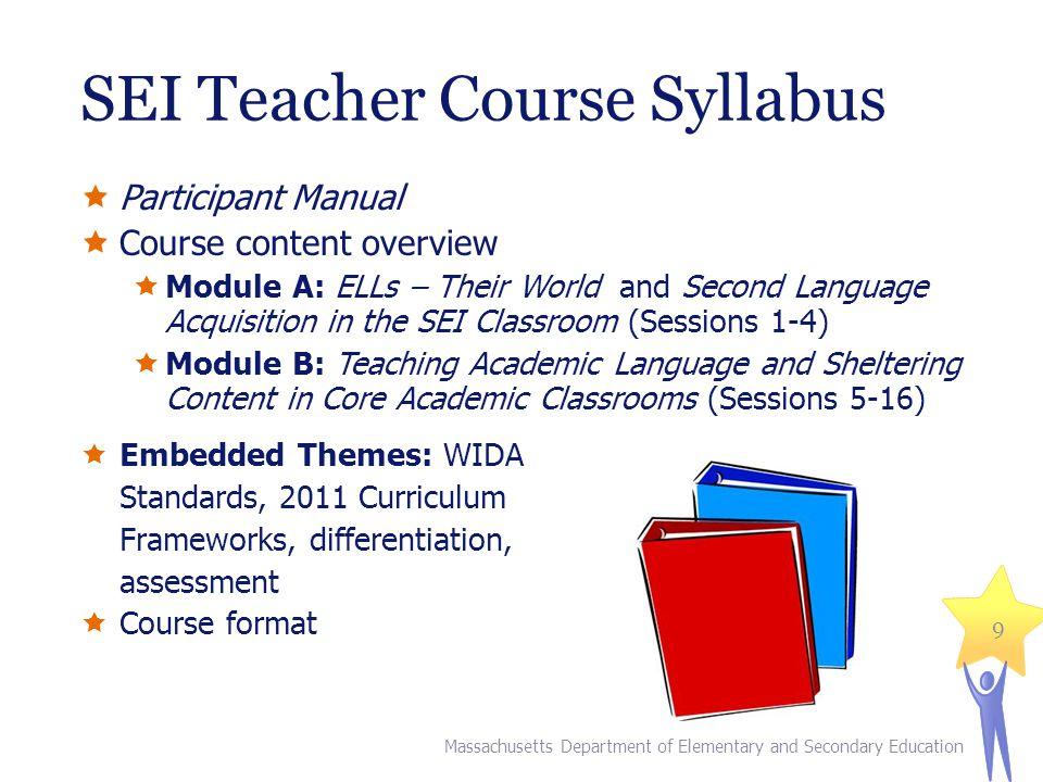 SEI Teacher Course Syllabus