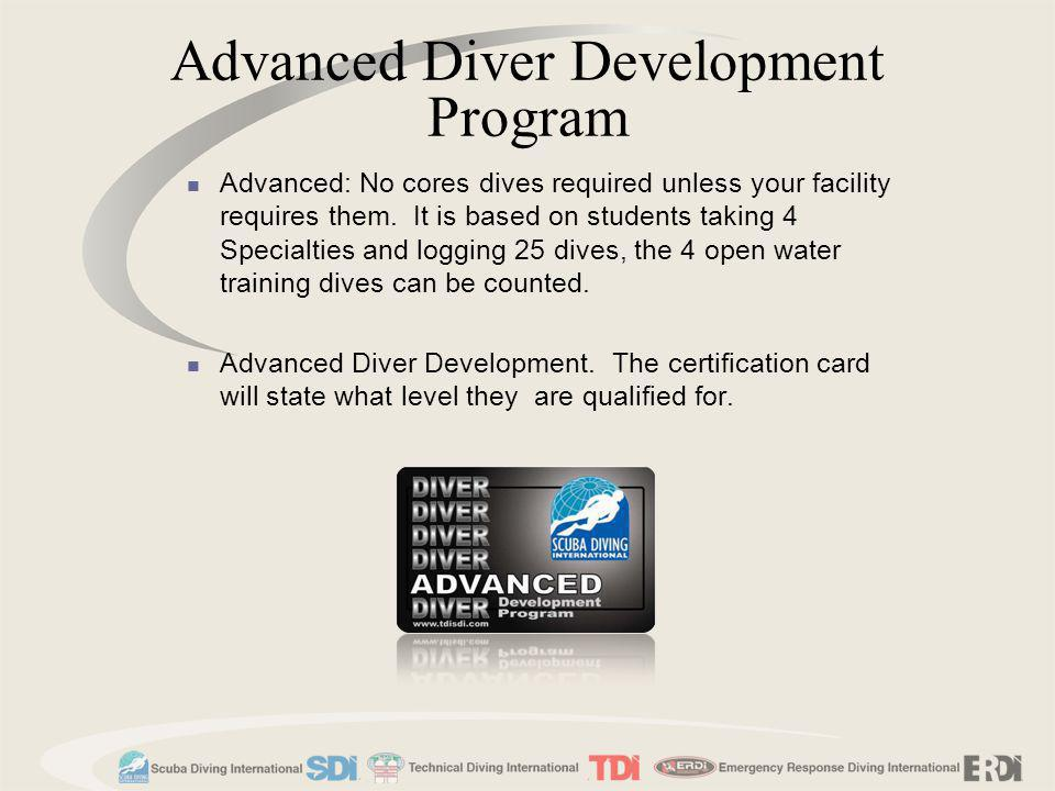 Advanced Diver Development Program