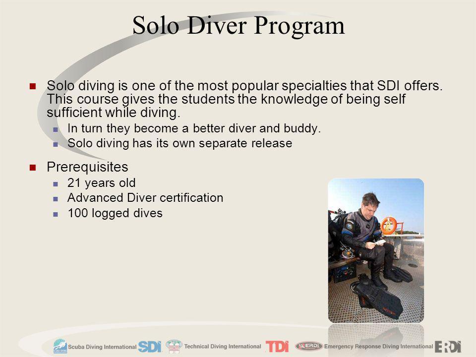 Solo Diver Program