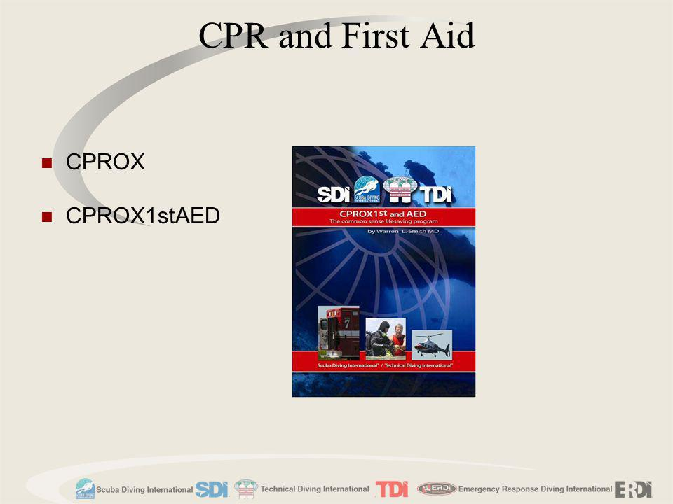 CPR and First Aid CPROX CPROX1stAED