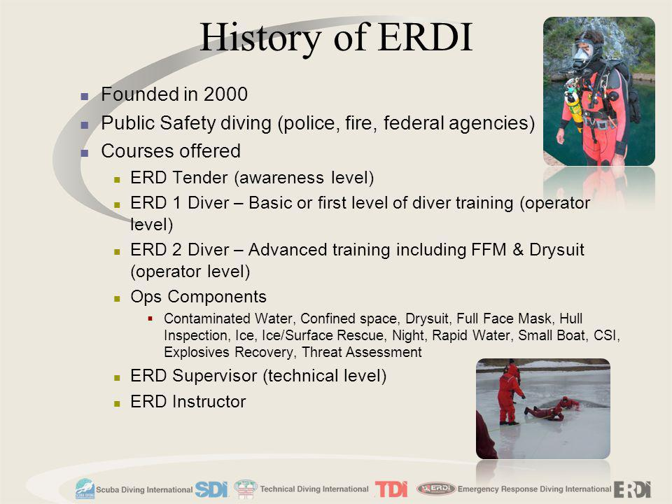 History of ERDI Founded in 2000