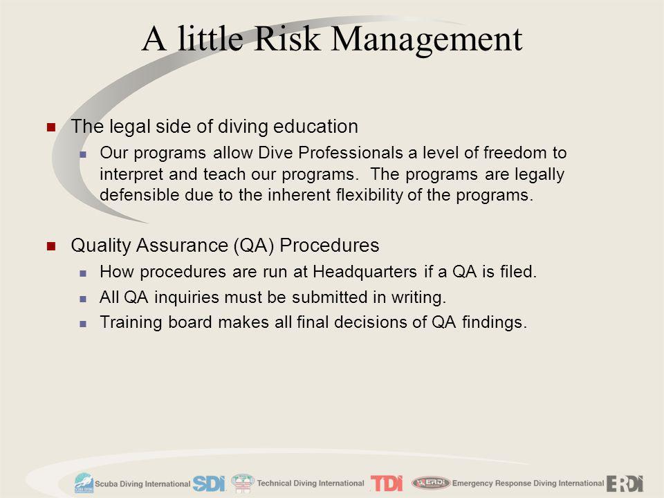 A little Risk Management