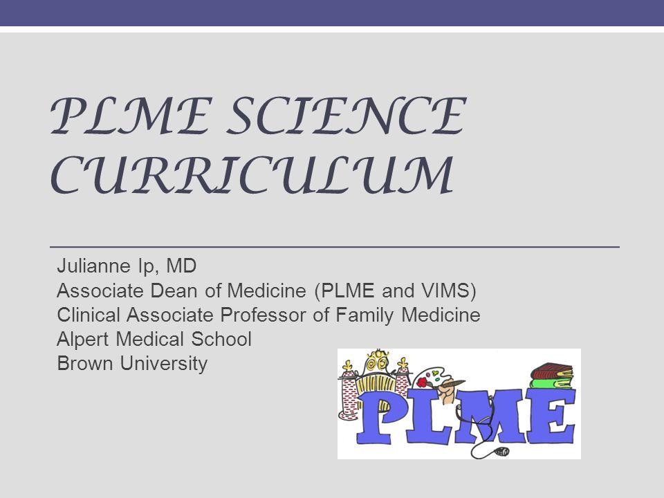 PLME Science Curriculum