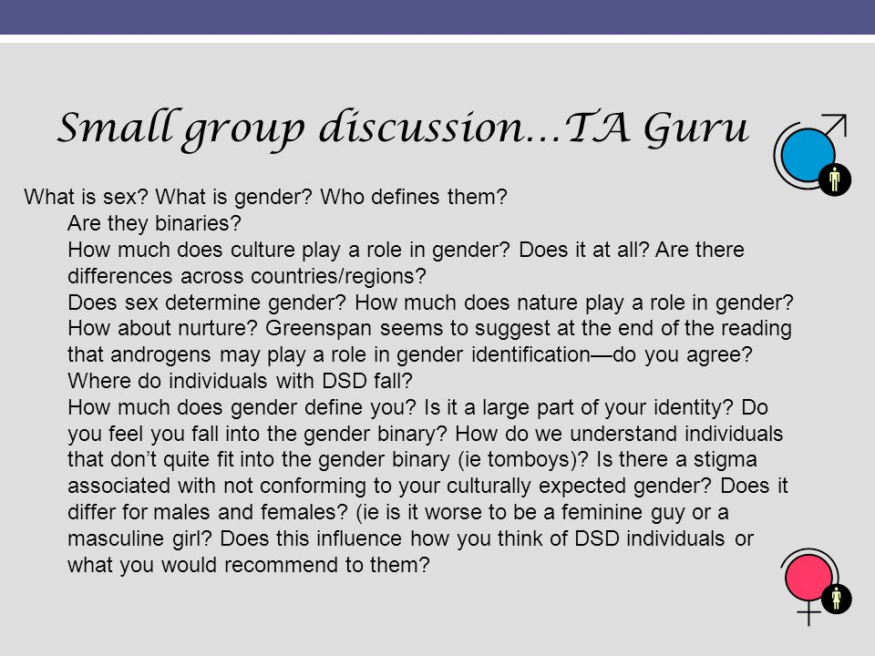 Small group discussion…TA Guru