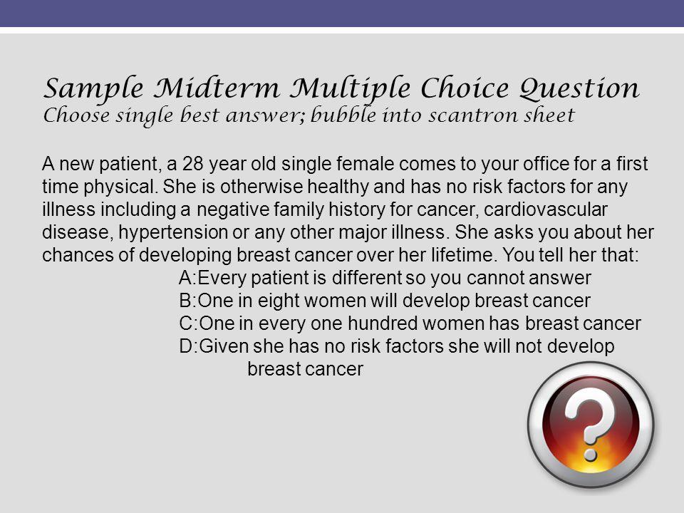 Sample Midterm Multiple Choice Question