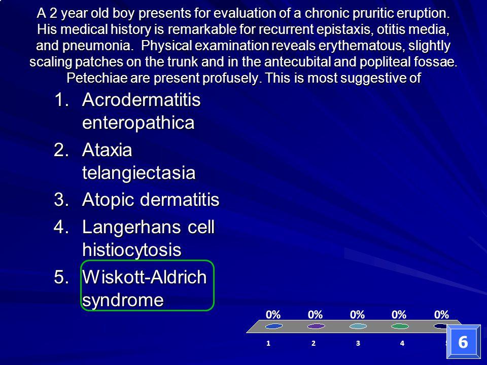 Acrodermatitis enteropathica Ataxia telangiectasia Atopic dermatitis