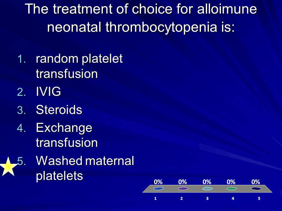 The treatment of choice for alloimune neonatal thrombocytopenia is:
