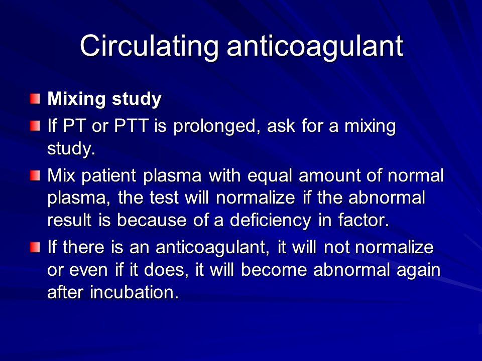 Circulating anticoagulant