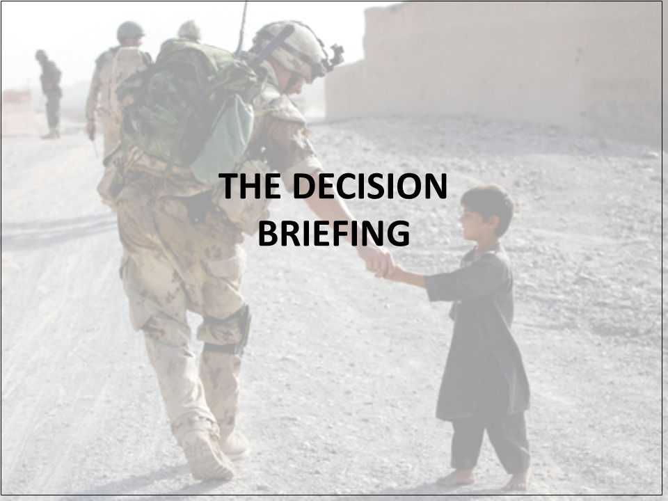 THE DECISION BRIEFING