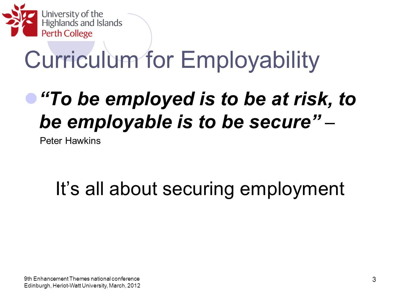 Curriculum for Employability