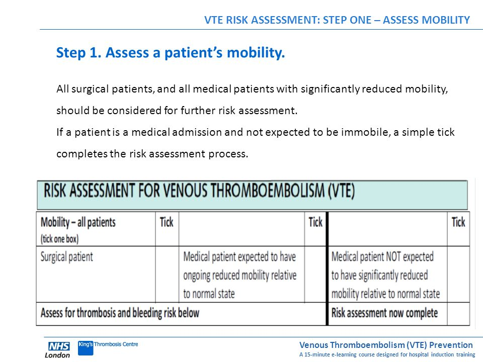 Step 1. Assess a patient's mobility.