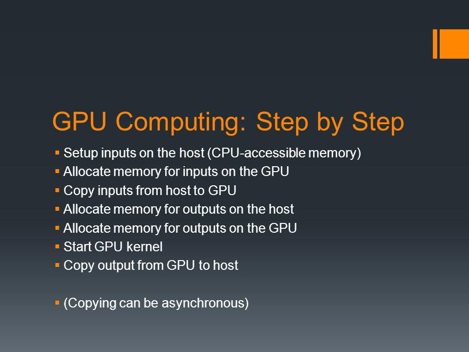 GPU Computing: Step by Step