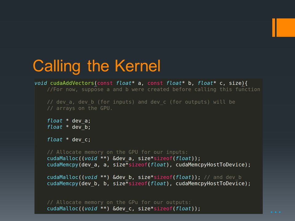 Calling the Kernel …