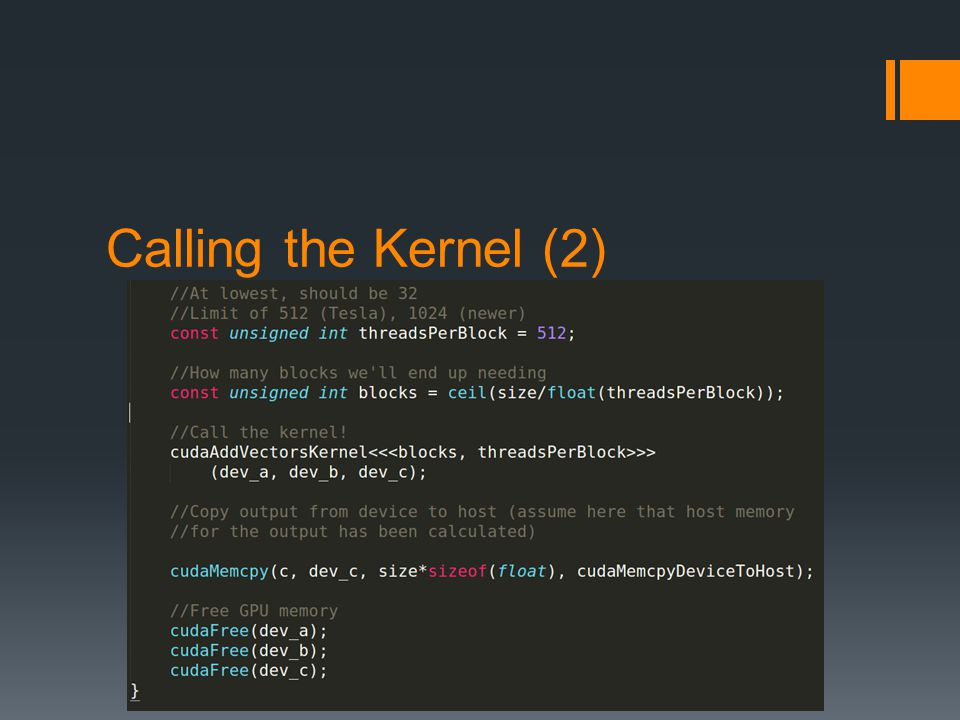 Calling the Kernel (2)