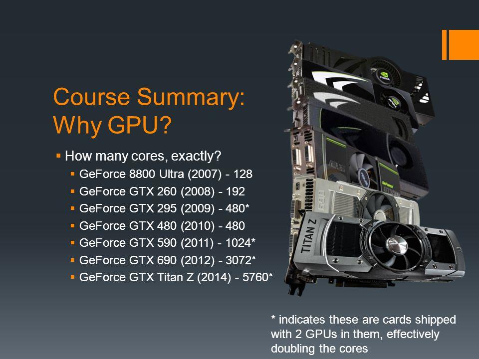 Course Summary: Why GPU