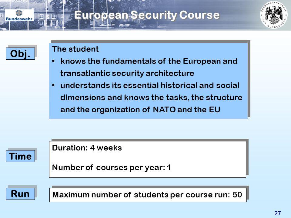 European Security Course