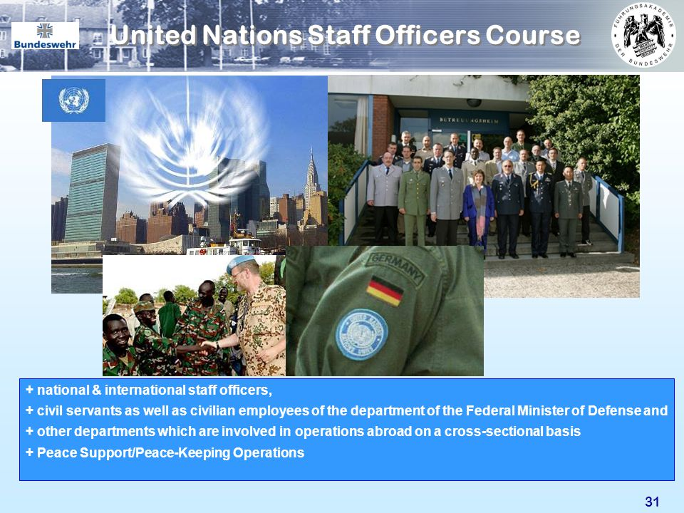 United Nations Staff Officers Course