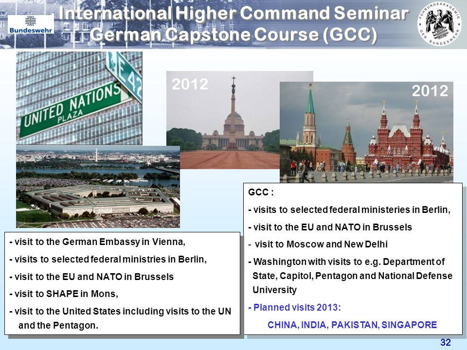 International Higher Command Seminar German Capstone Course (GCC)