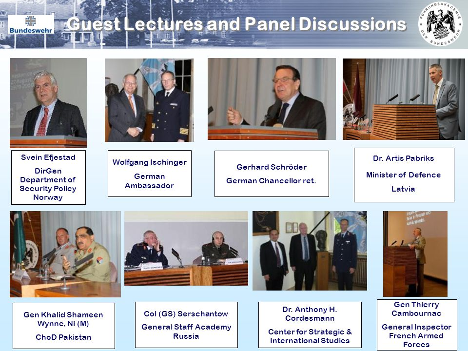Guest Lectures and Panel Discussions
