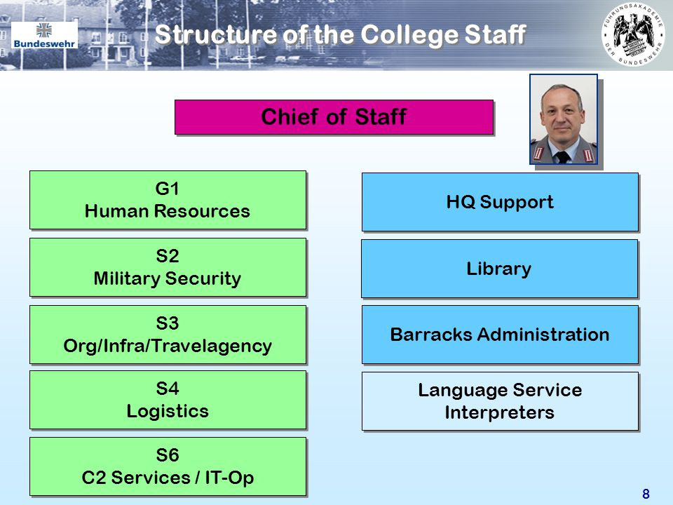 Structure of the College Staff