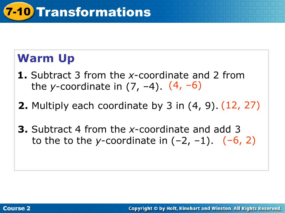 Transformations Warm Up 7-10