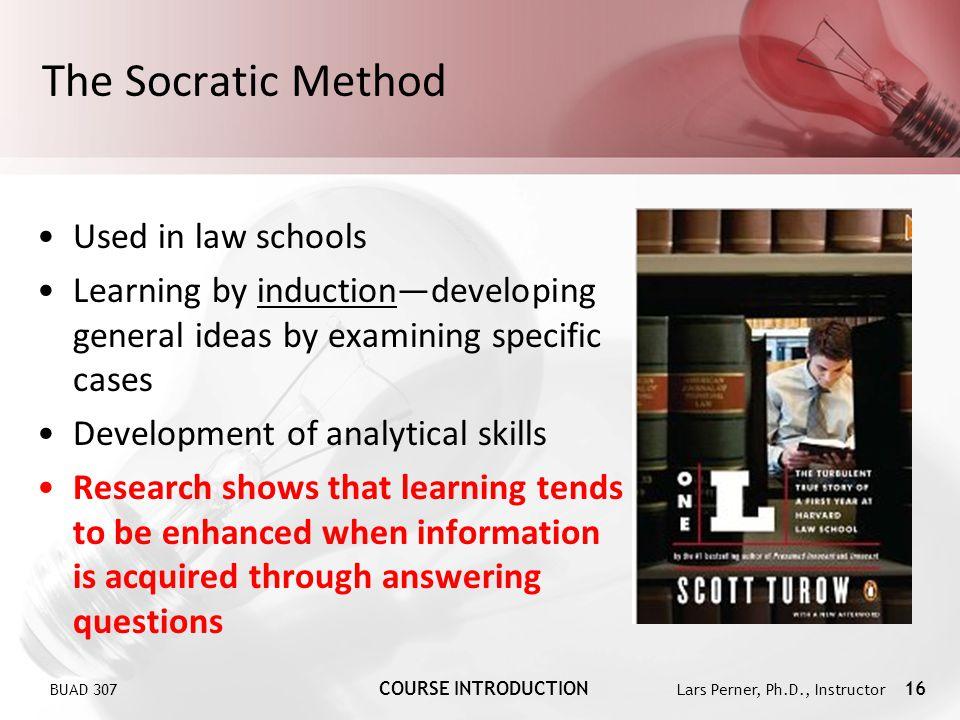 The Socratic Method Used in law schools