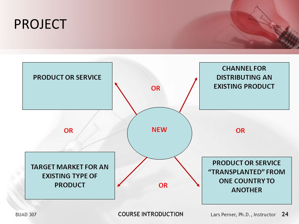 PROJECT PRODUCT OR SERVICE