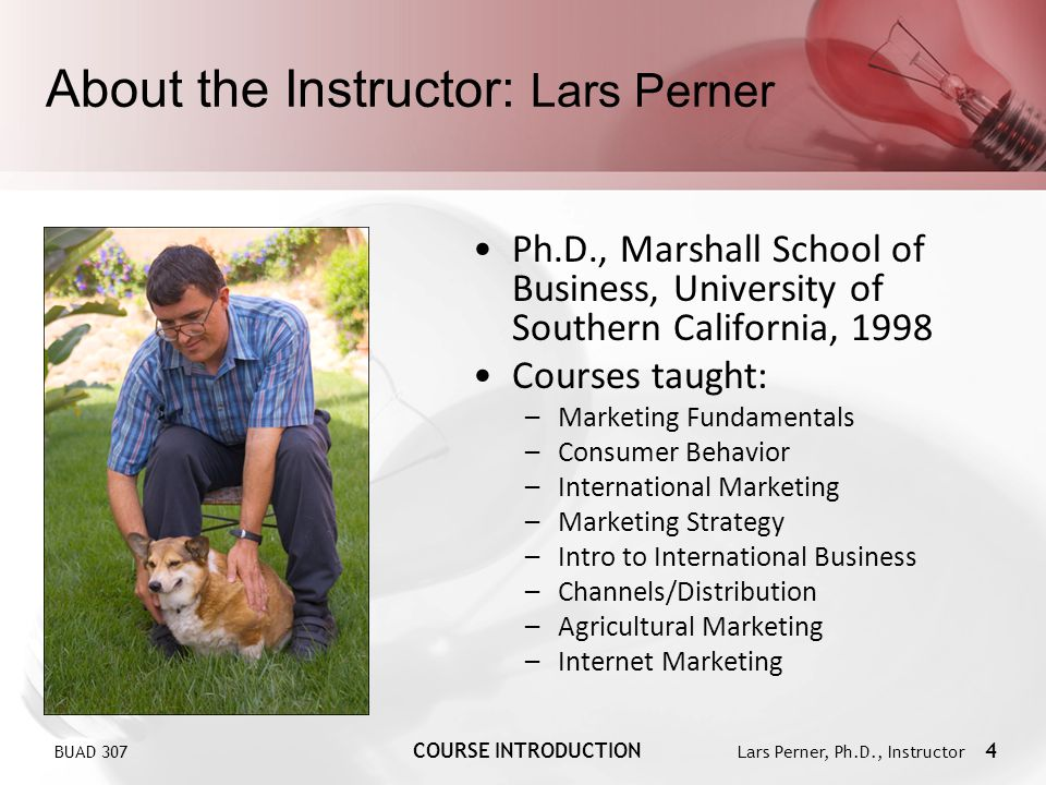 About the Instructor: Lars Perner
