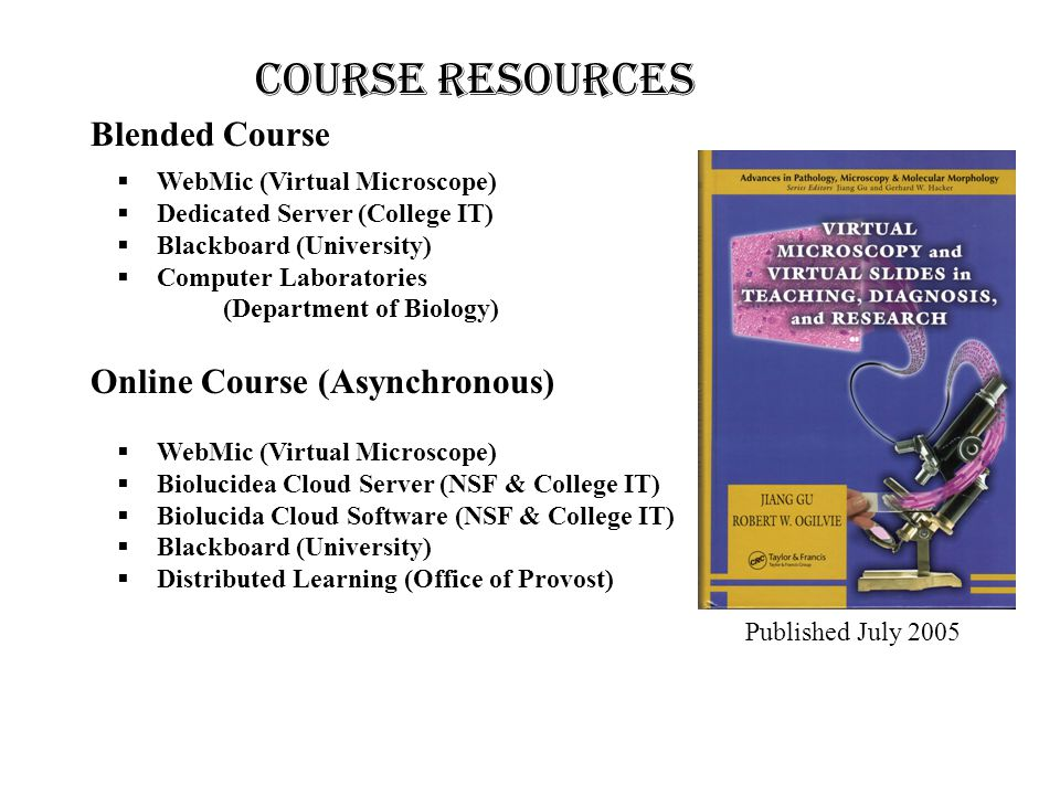 COURSE resources Blended Course Online Course (Asynchronous)