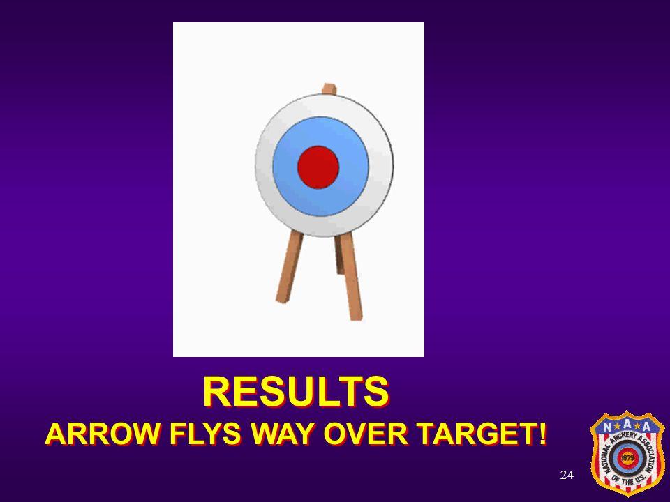ARROW FLYS WAY OVER TARGET!