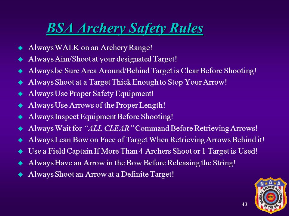 BSA Archery Safety Rules