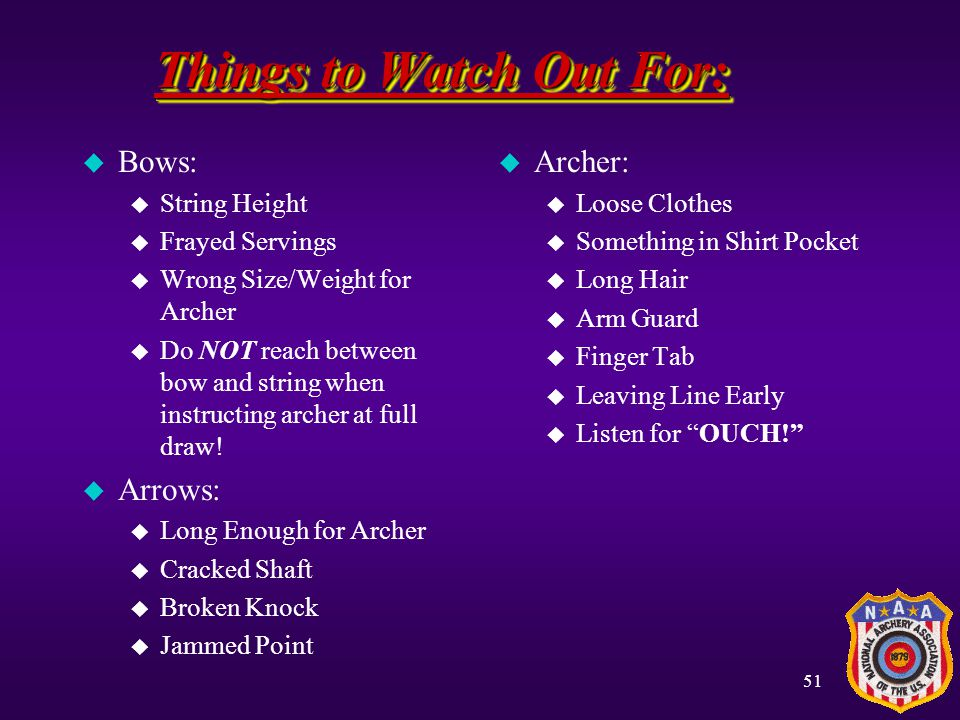 Things to Watch Out For: