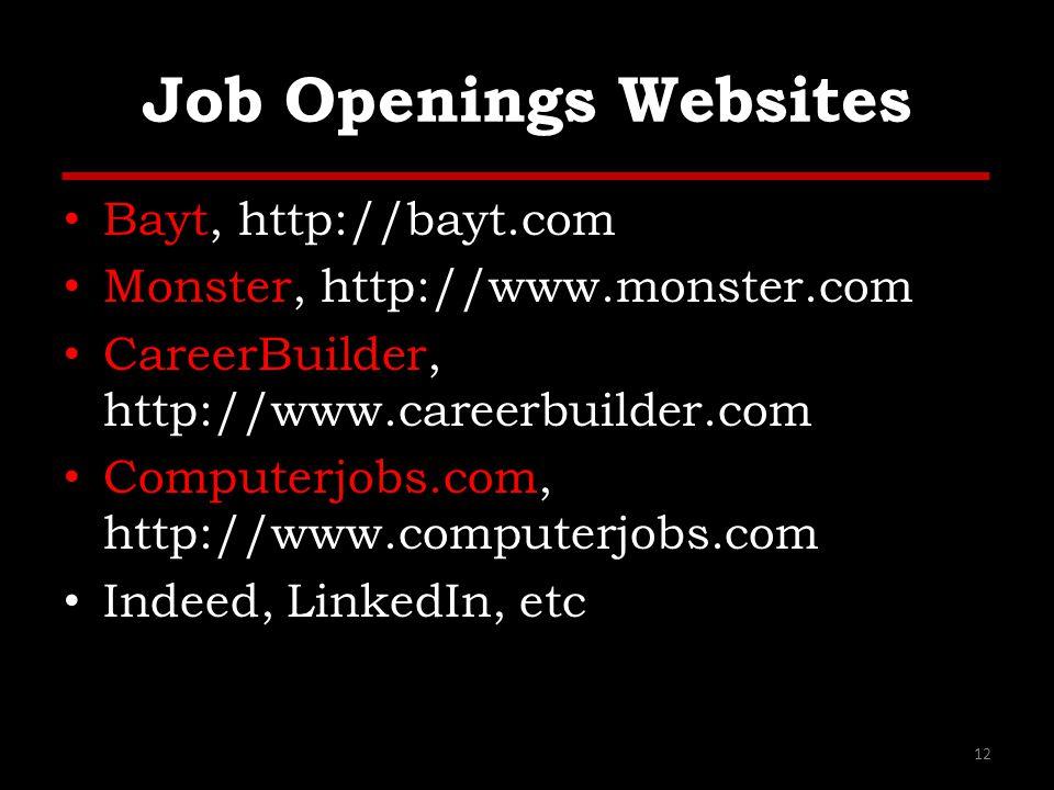 Job Openings Websites Bayt, http://bayt.com