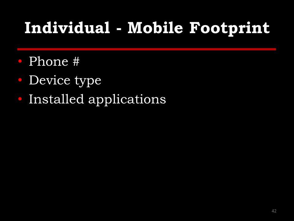 Individual - Mobile Footprint
